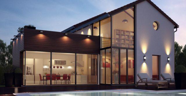Mas llaro villa contemporaine jardin de 2 000 m2 - Jardin maison contemporaine perpignan ...