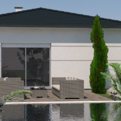 Villa plain pied avec jardin à Tresserre