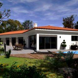Villa à demi-étage de 110m² avec jardin et garage à Laurent-de-la-Salanque